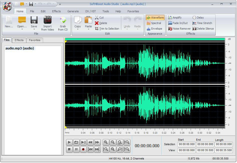 Editare audio con Soft4Boost Audio Studio.