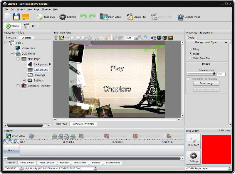 Click to view Soft4Boost DVD Creator 5.0.3.135 screenshot