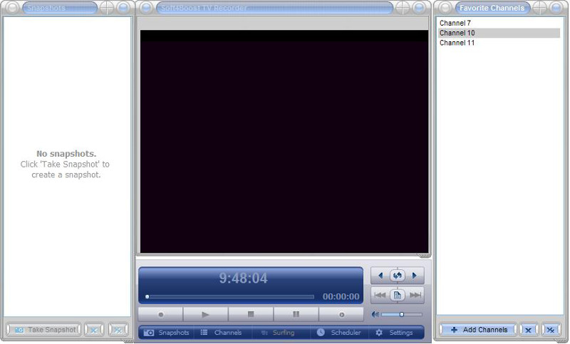 Soft4Boost TV Recorder full screenshot