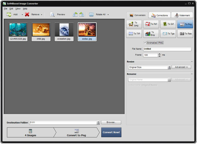Click to view Soft4Boost Image Converter 5.3.5.867 screenshot